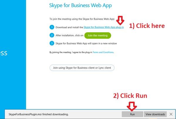 Windows 10 - Installing Skype For Business Web App