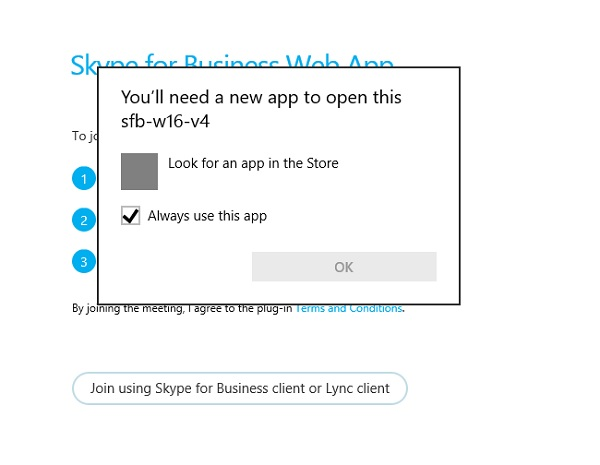 Windows 10 - Installing Skype For Business Web App